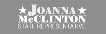 gray scale political campaign logo
